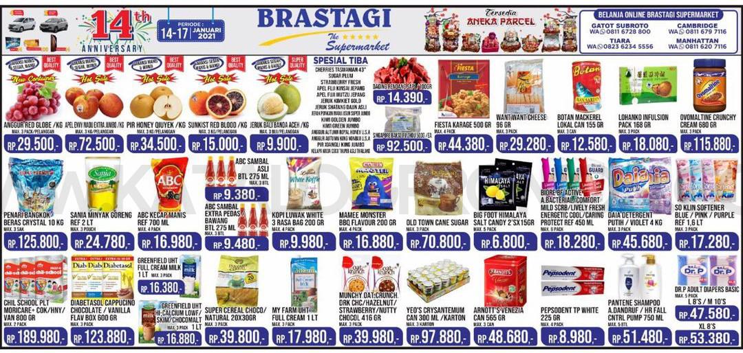 KATALOG BRASTAGI SUPERMARKET Promo Weekend periode 14-17