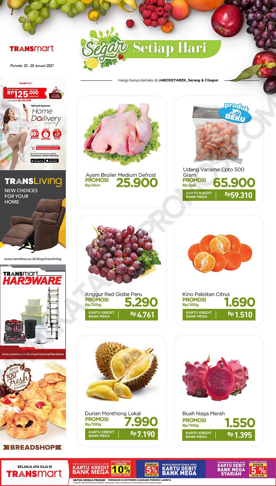 Promo CARREFOUR Katalog Promo HEMAT Produk FRESH periode 22-28 Januari 2021