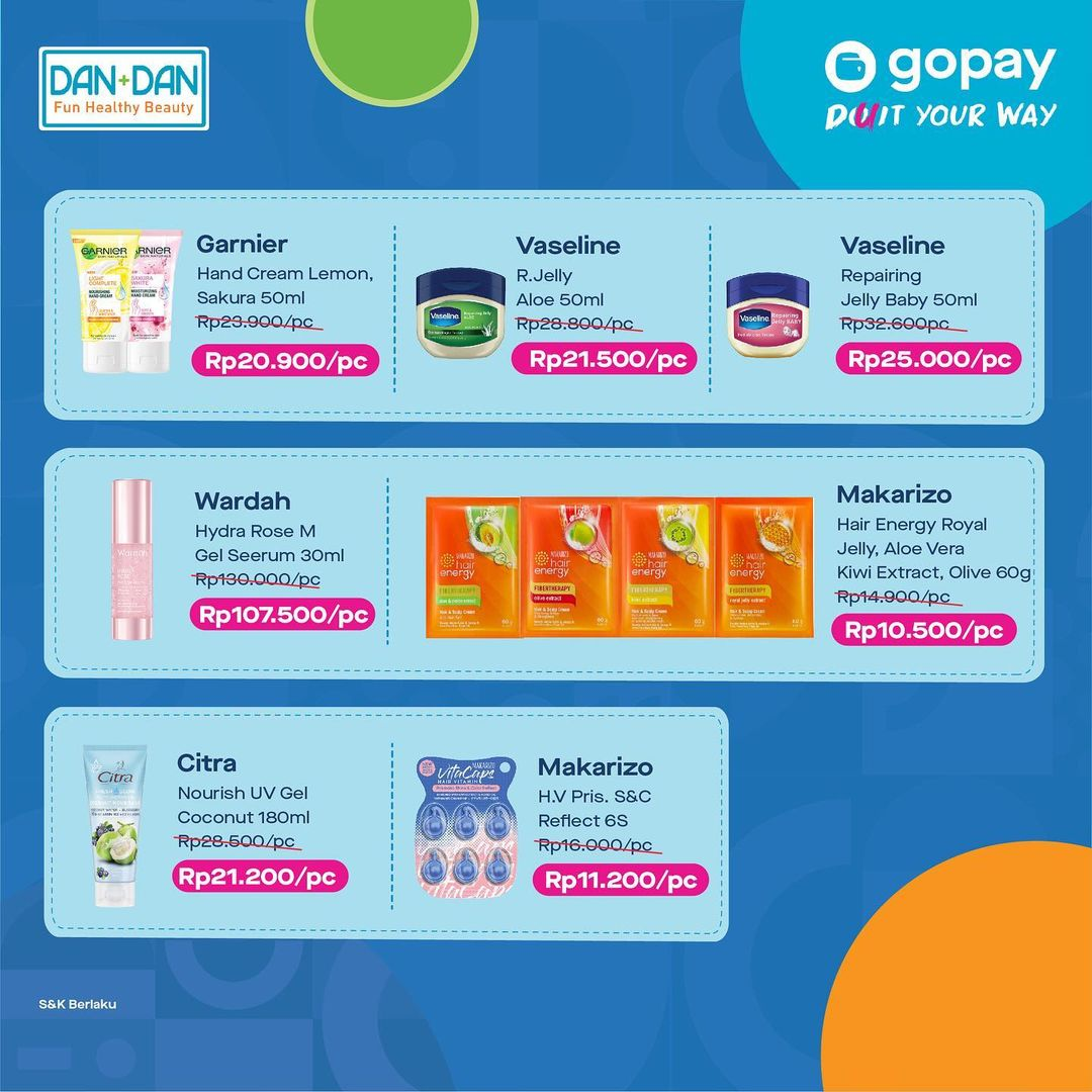 DAN+DAN Promo GOPAY Hajatan - Diskon Hingga 50% untuk transaksi dengan GOPAY