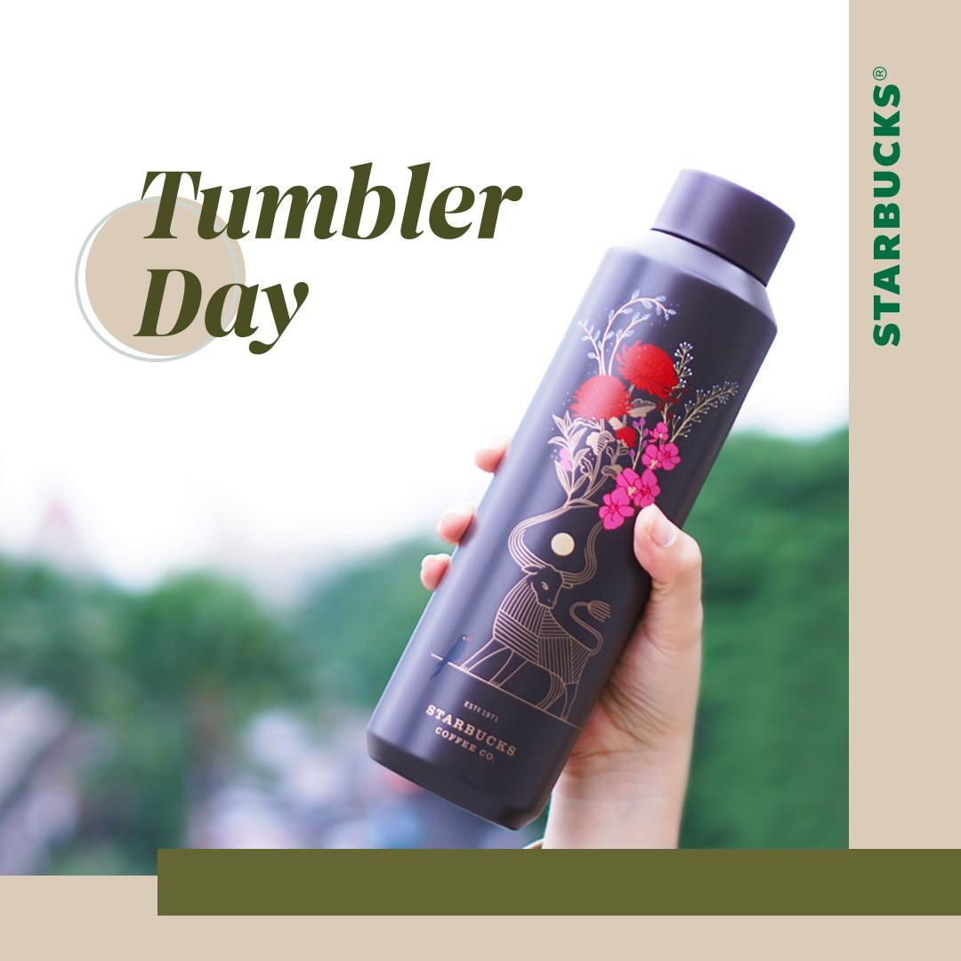 Promo STARBUCKS TUMBLER DAY - DISKON 50% untuk MINUMAN dengan menggunakan Tumbler Official Starbucks