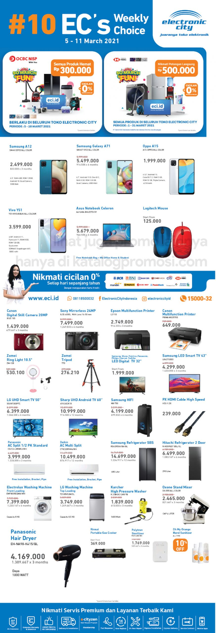 Promo Electronic City Katalog Weekly Special periode 05-11 Maret 2021
