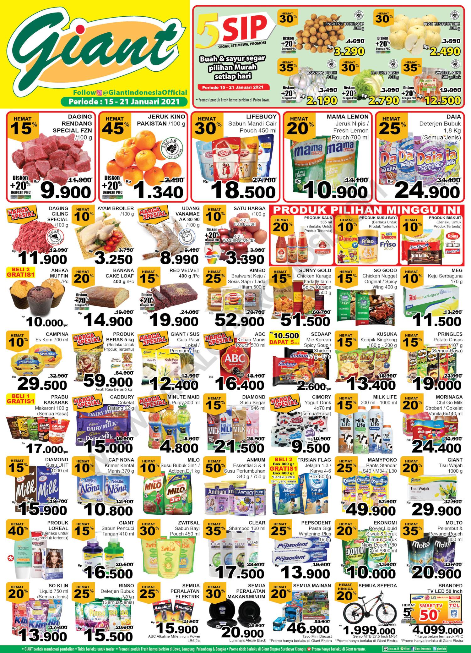 Promo Giant JSM Katalog Weekend periode 15-21 Januari 2021