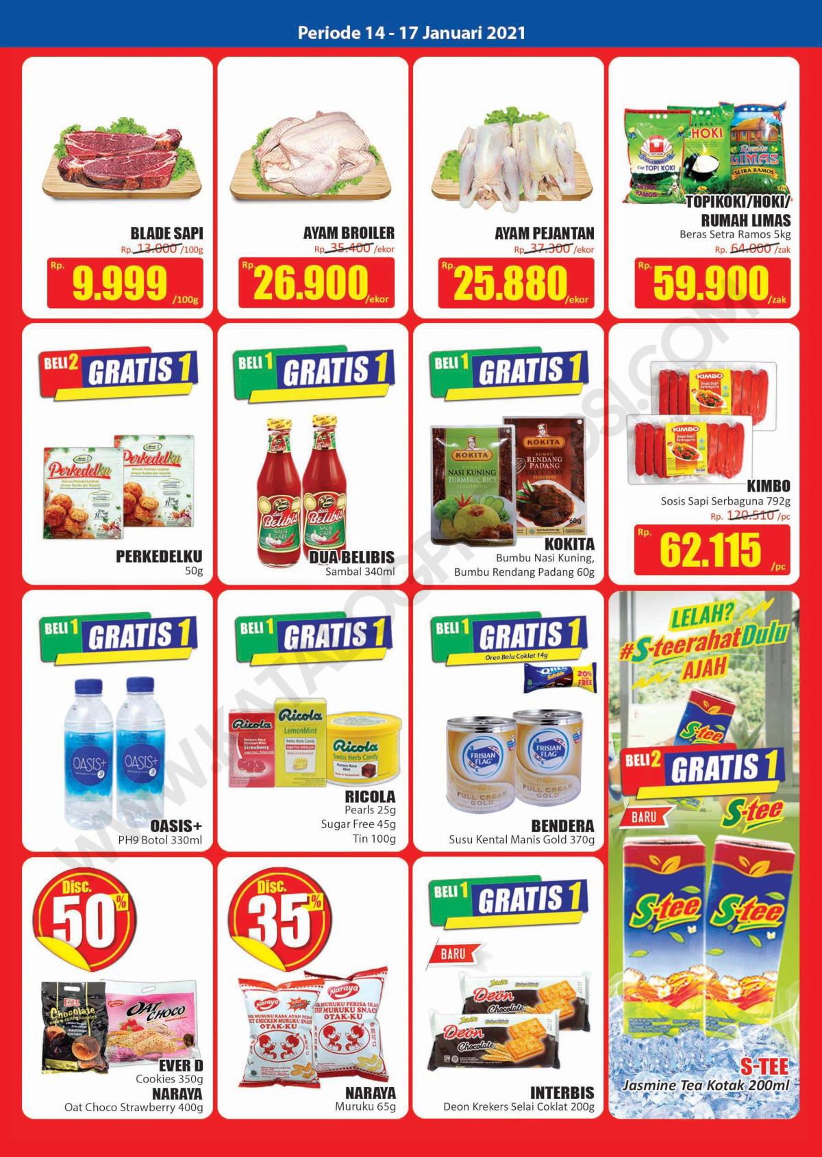 Katalog Promo Hari Hari Pasar Swalayan Weekend Periode 14-17 Januari 2021