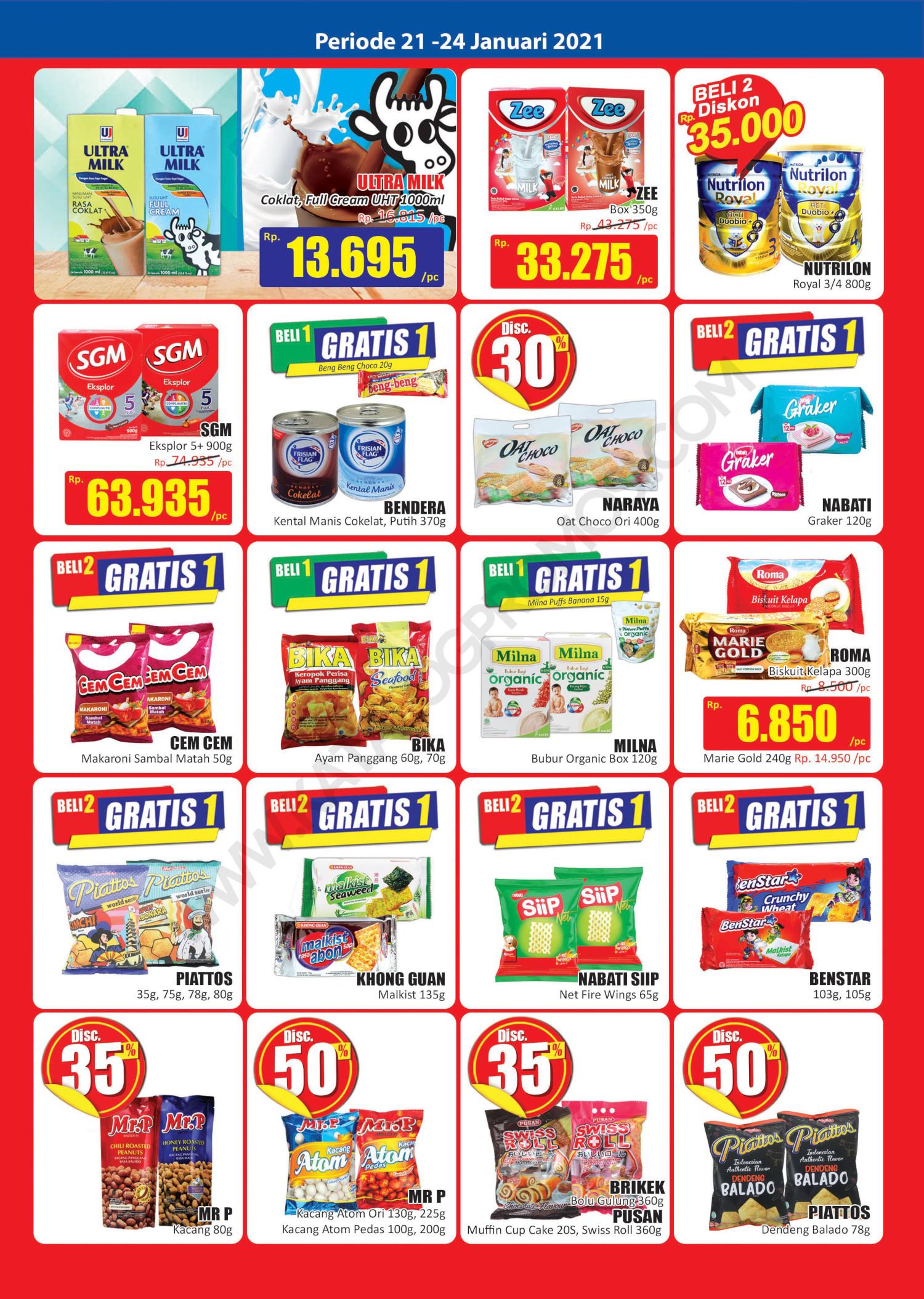 Katalog Promo Hari Hari Pasar Swalayan Weekend Periode 21-24 Januari 2021