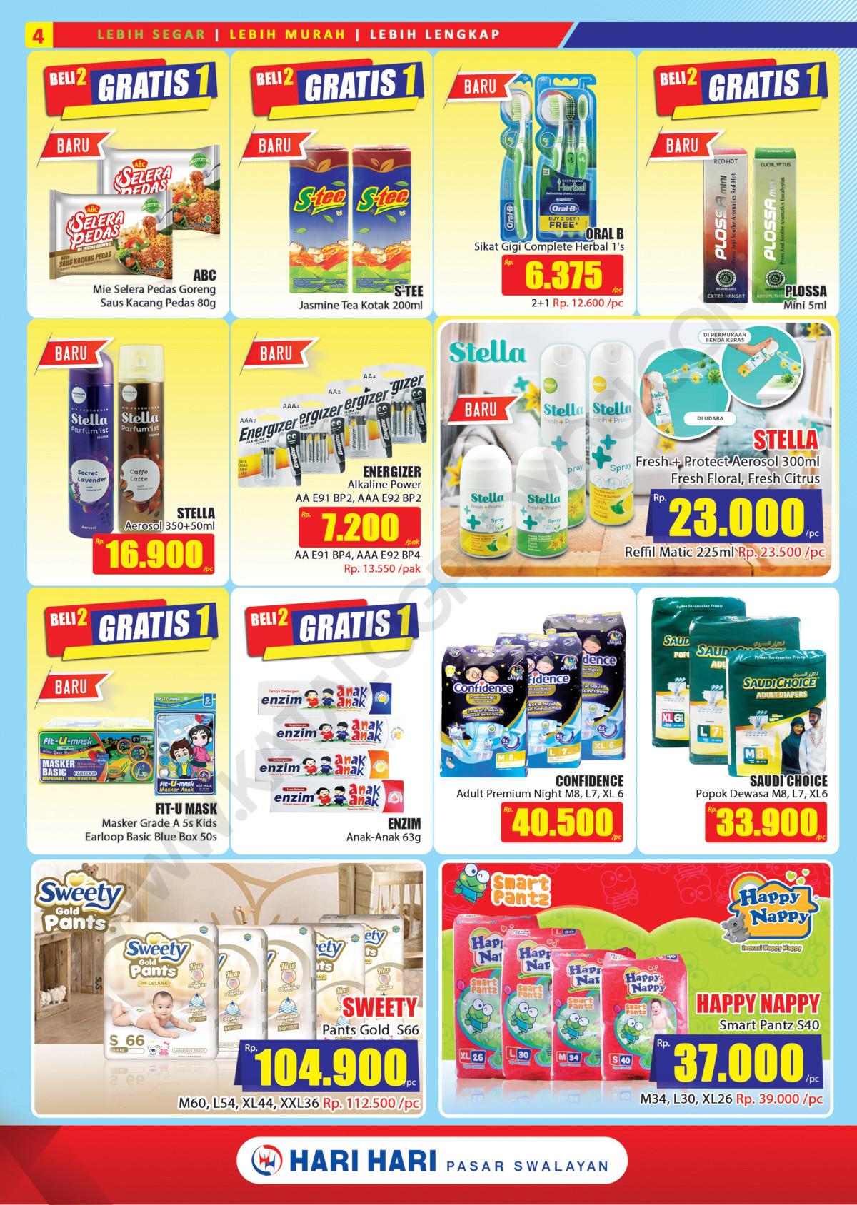 Promo Hari Hari Pasar Swalayan Katalog Mingguan Periode 21 Januari - 03 Februari 2021