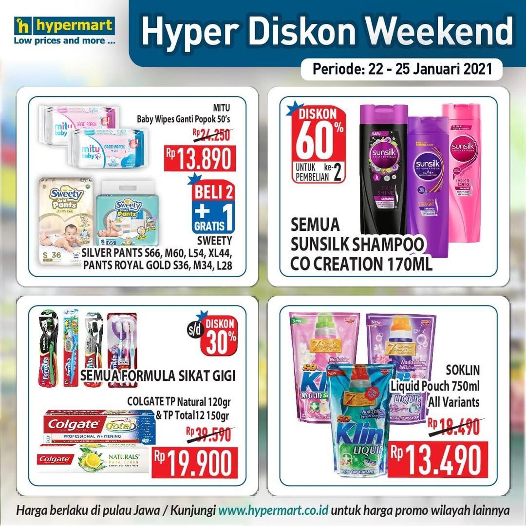 Promo Hypermart JSM Katalog Weekend periode 22-25 Januari 2021