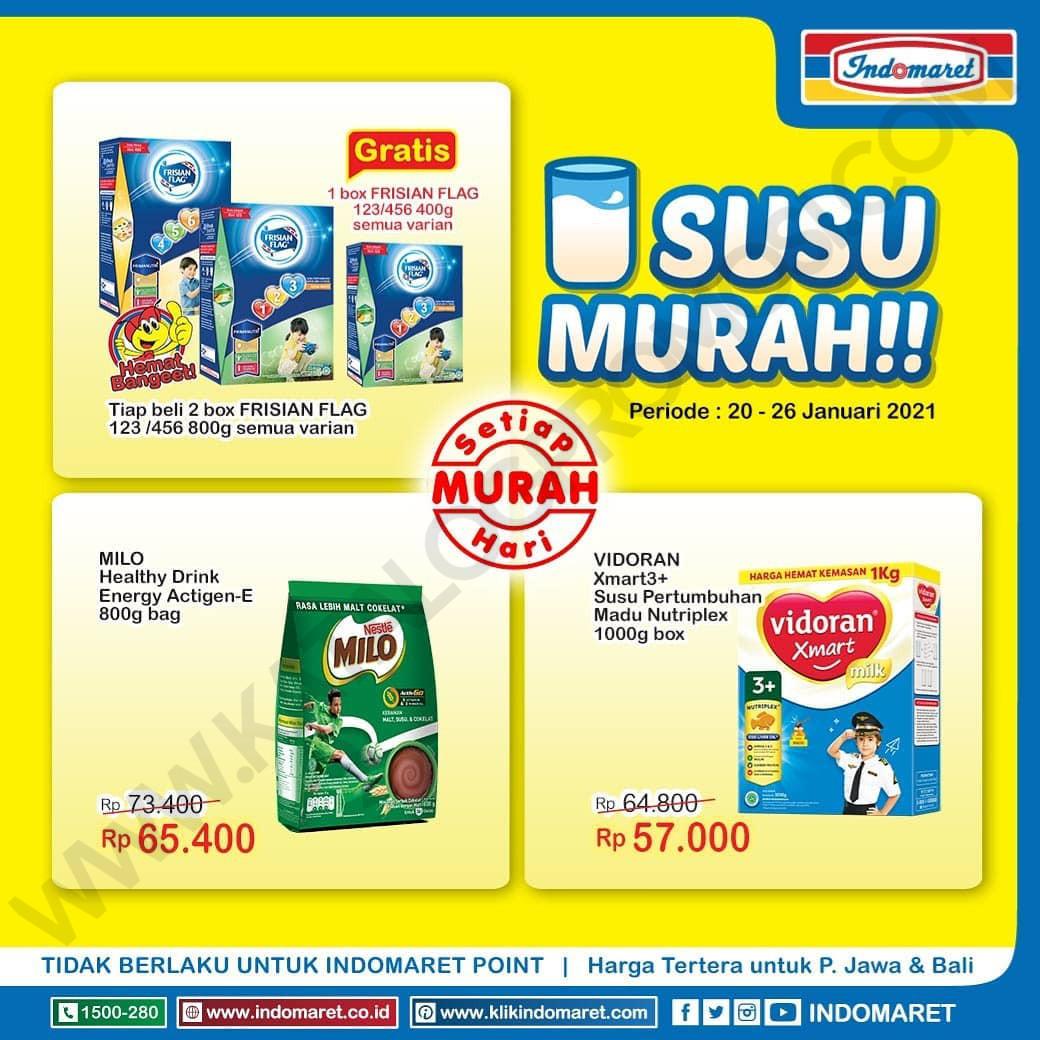 INDOMARET Promo HARGA HEBOH , MINYAK MURAH dan SUSU MURAH periode 20-26 Januari 2021