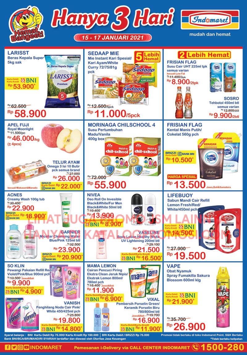 Promo INDOMARET Katalog Weekend JSM periode 15-17 Januari 2021