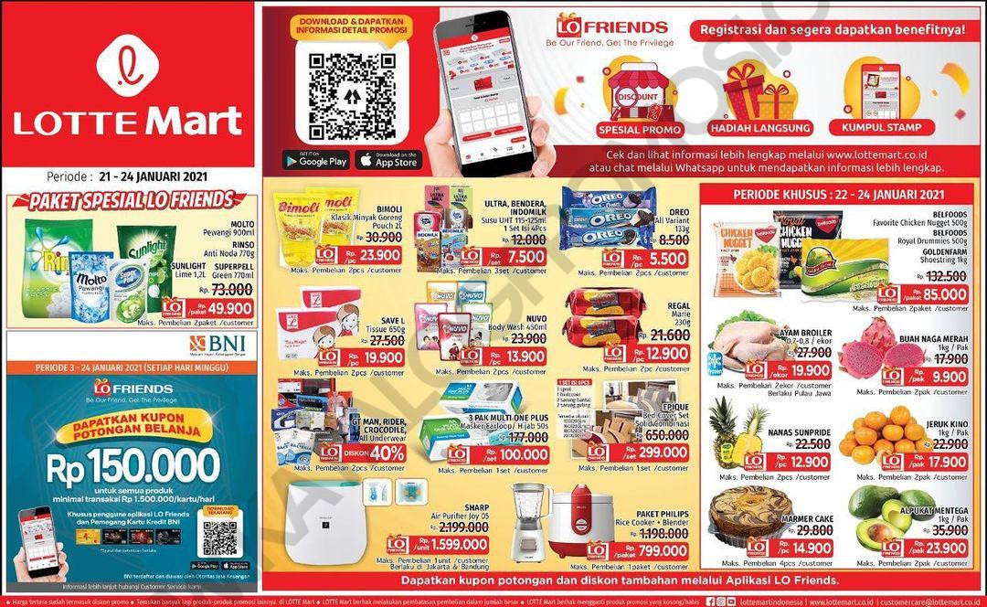 Katalog Promo LOTTEMART RETAIL khusus Weekend periode 21-24 JANUARI 2021