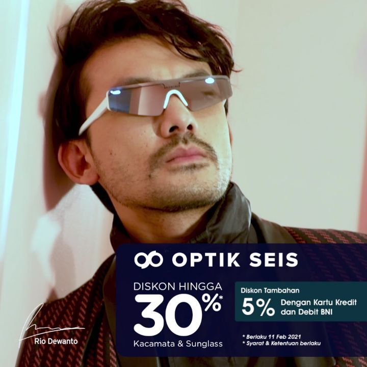 OPTIK SEIS Promo DISKON hingga 30% + 5% dengan KARTU BNI