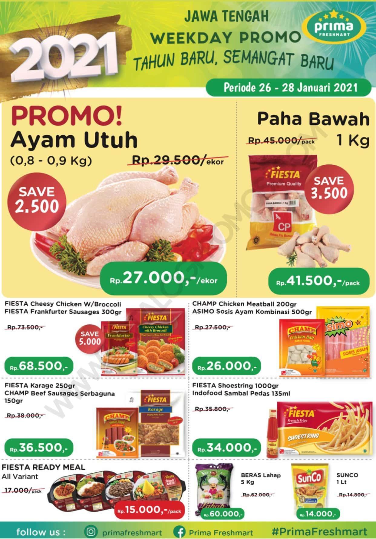 Promo Prima Freshmart Terbaru - Katalog Belanja Weekday periode 26-28 Januari 2021