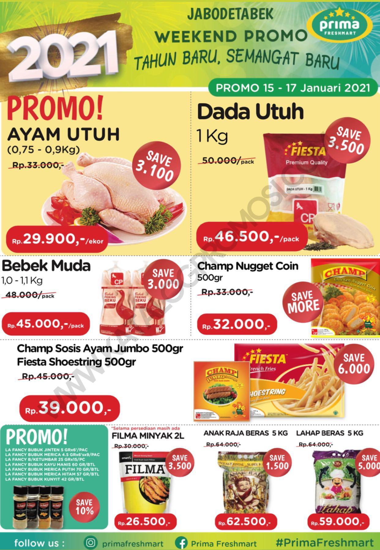 Promo Prima Freshmart Terbaru - Katalog Belanja Weekend JSM periode 15-17 Januari 2021