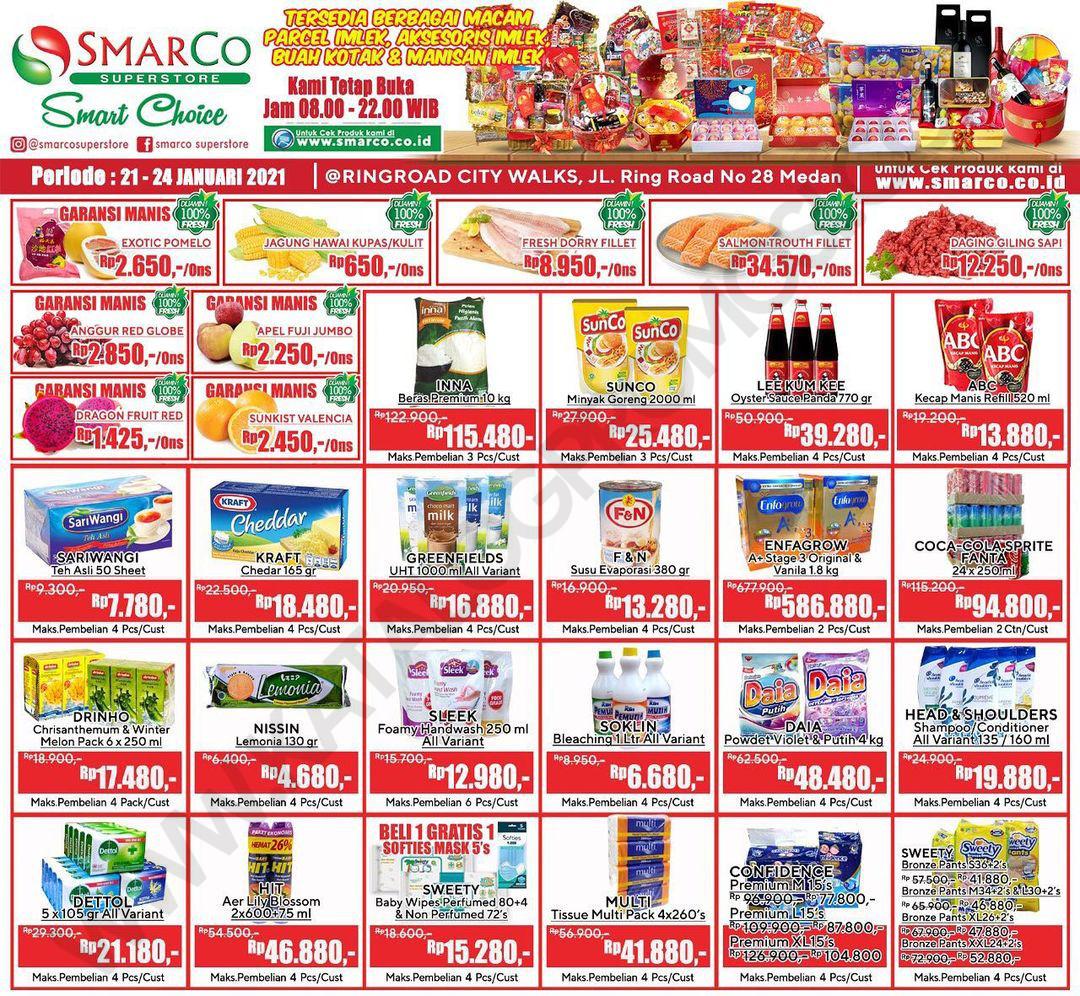 Promo SmarCo Superstore Katalog Weekend JSM periode 21-24 Januari 2021