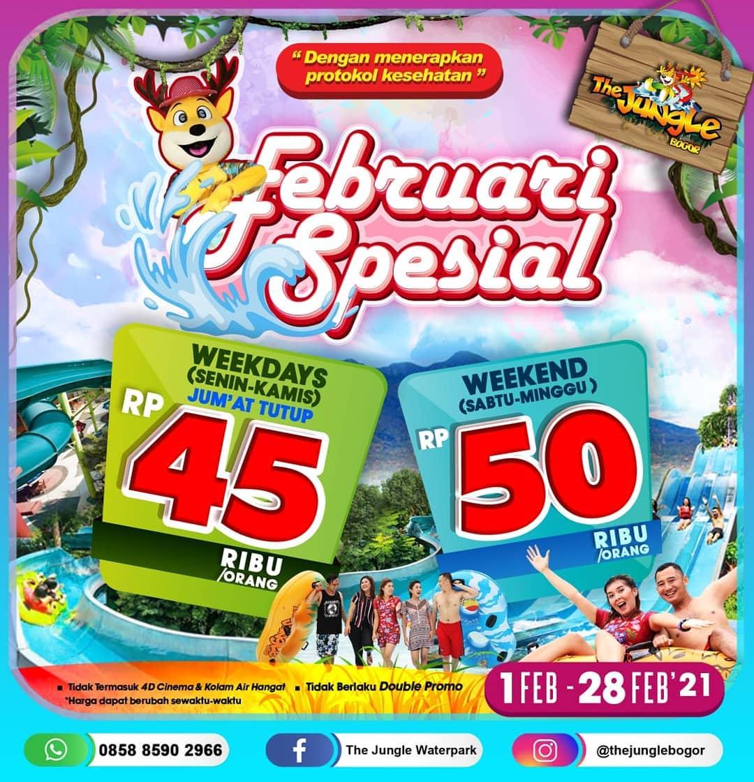 Promo THE JUNGLE FEBRUARY SPECIAL - HARGA SPESIAL TIKET MASUK mulai Rp. 45.000 perorang