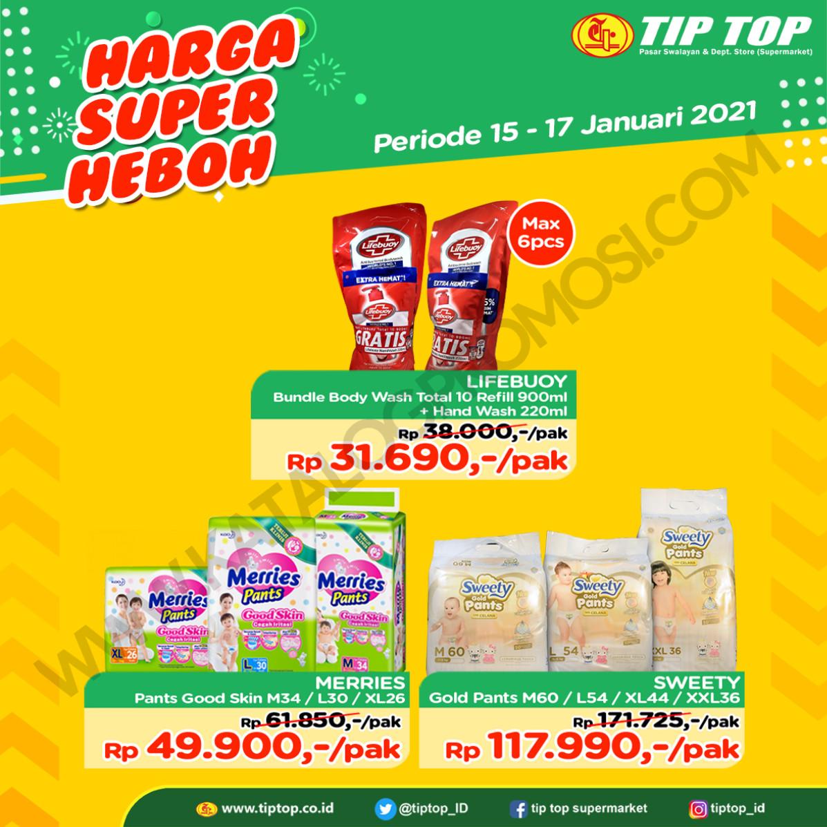 Katalog TIP TOP Pasar Swalayan Promo Weekend periode 15-17 Januari 2021