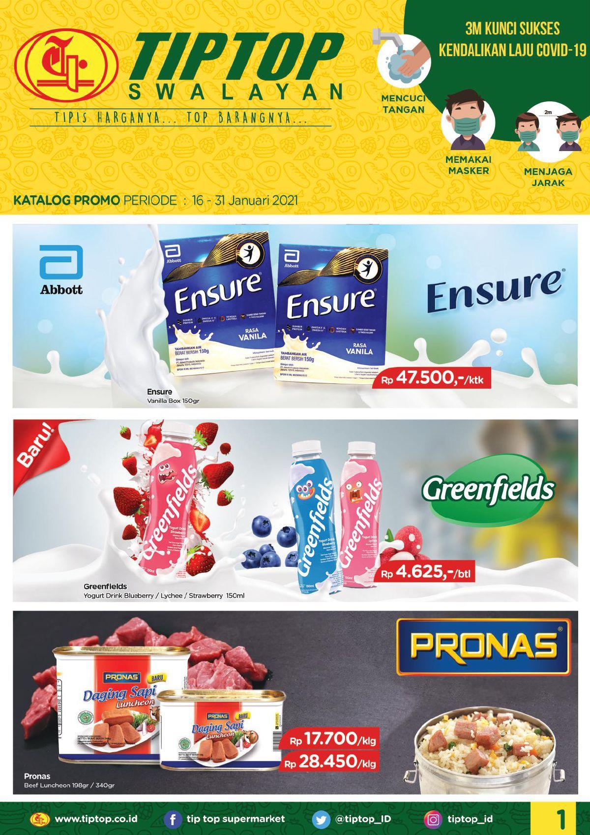 Katalog TIP TOP PASAR SWALAYAN Promo Mingguan Periode 16-31 Januari 2021