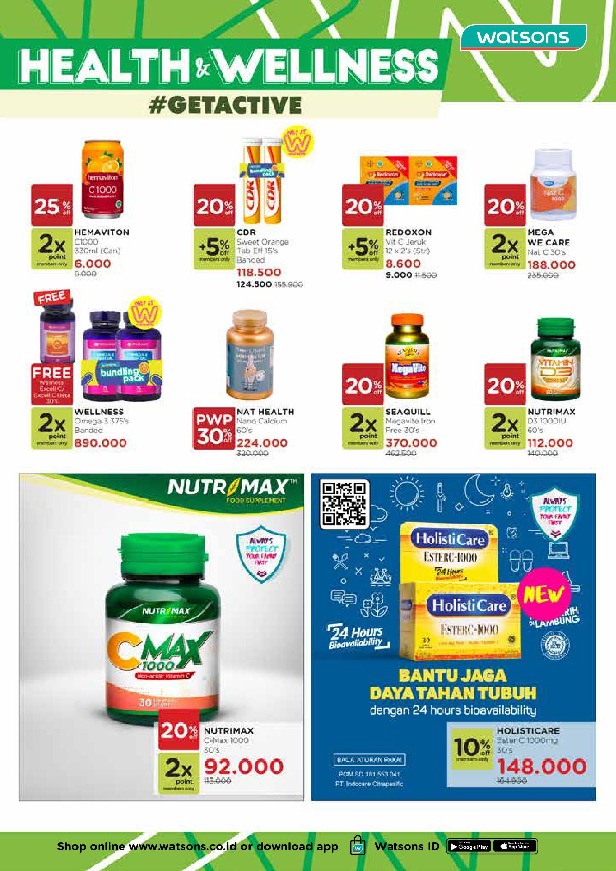 Katalog Belanja Watsons Terbaru - BEAUTY IN LOVE Discount Up to 50% on your favorite products