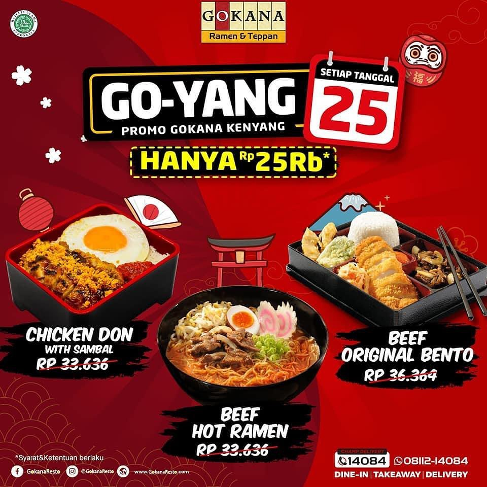 Gokana Resto Promo Go Yang Special Price Rp 25 000 Beureum