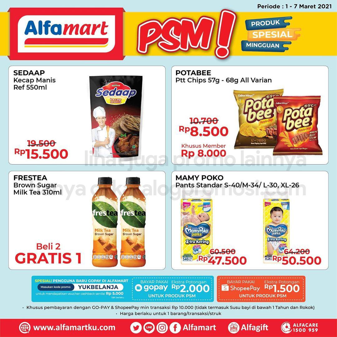 ALFAMART Promo PSM - Produk Spesial Mingguan periode01-07 Maret 2021