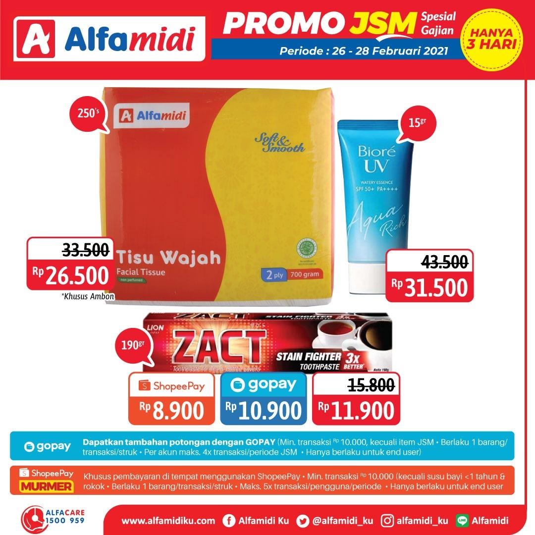 Promo ALFAMIDI JSM Weekend periode 26-28 Februari 2021