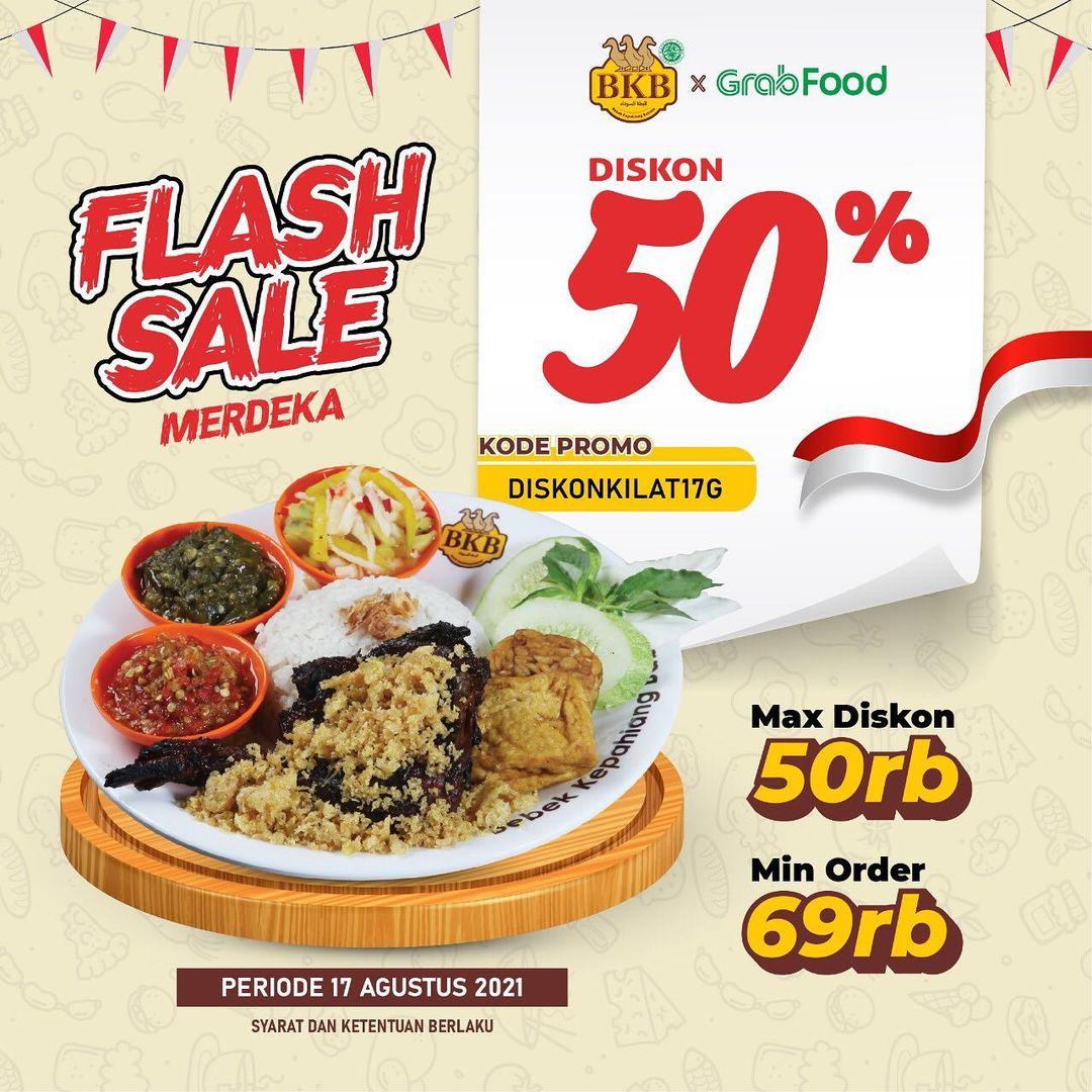 BEBEK BKB Promo FLASH SALE MERDEKA! Diskon 50% untuk Pembelian via GrabFood!