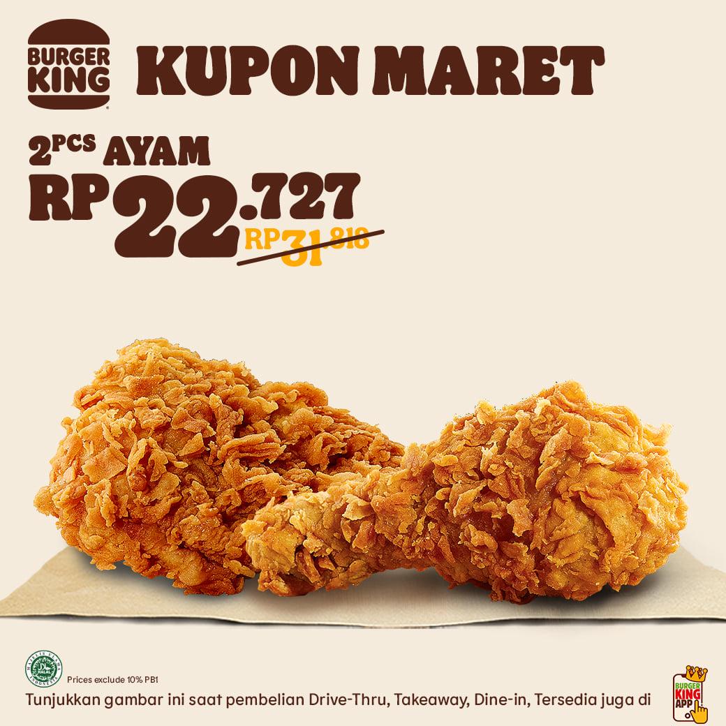 KUPON BURGER KING khusus untuk bulan MARET 2021