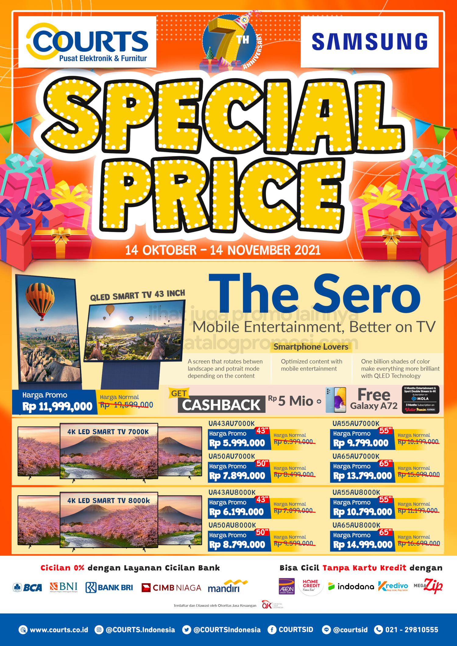 Promo COURTS SPECIAL PRICE untuk PRODUK SAMSUNG