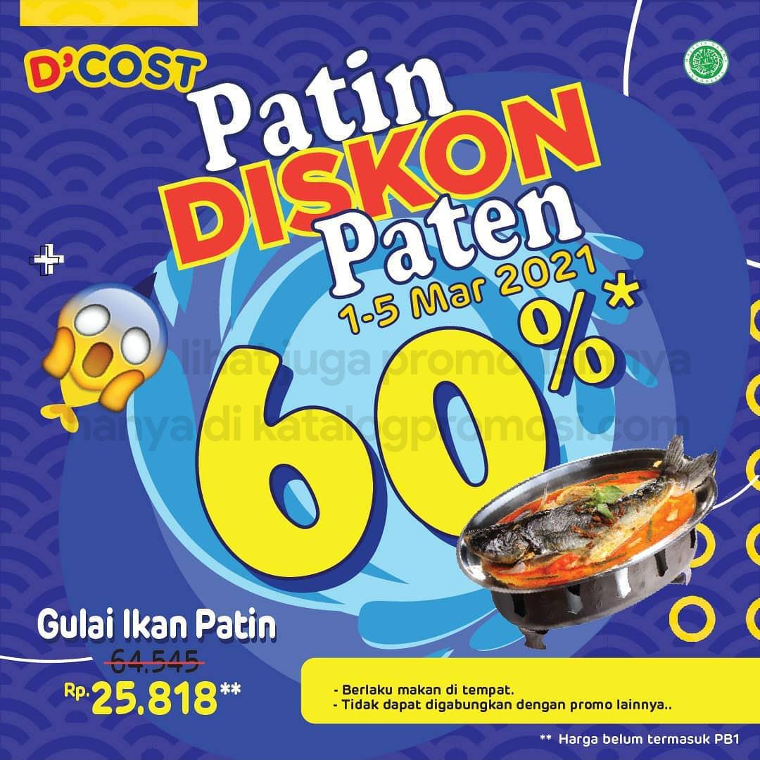 Promo DCOST Diskon 60% untuk Gulai Ikan Patin - Harga Spesial Hanya Rp 25.818* berlaku mulai tanggal 01-05 Maret 2021