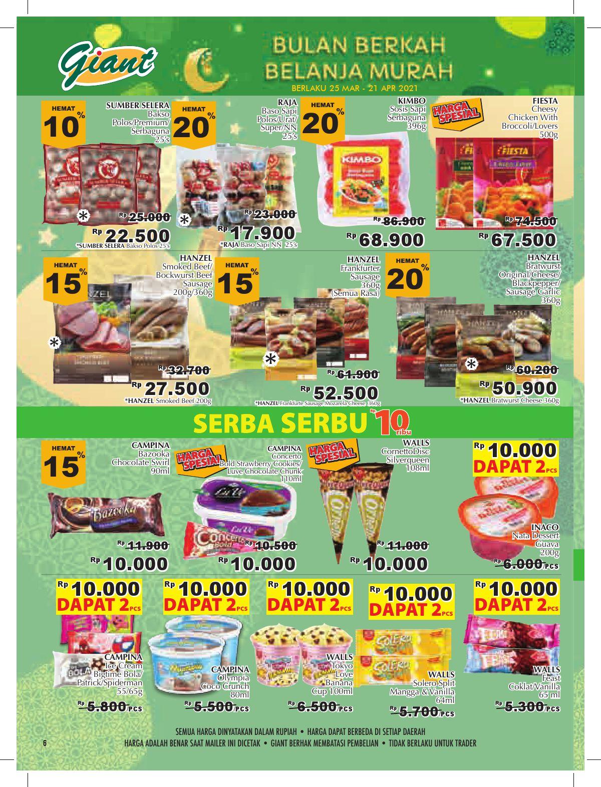 Katalog Promo Giant Terbaru periode 25 Maret - 21 April 2021