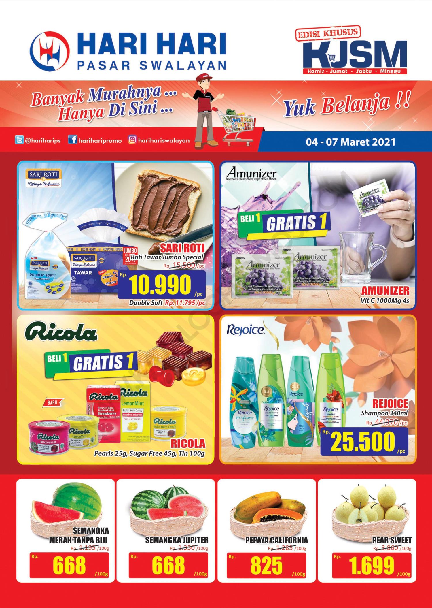 Promo Hari Hari Pasar Swalayan Weekend JSM Periode 04-07 Maret 2021