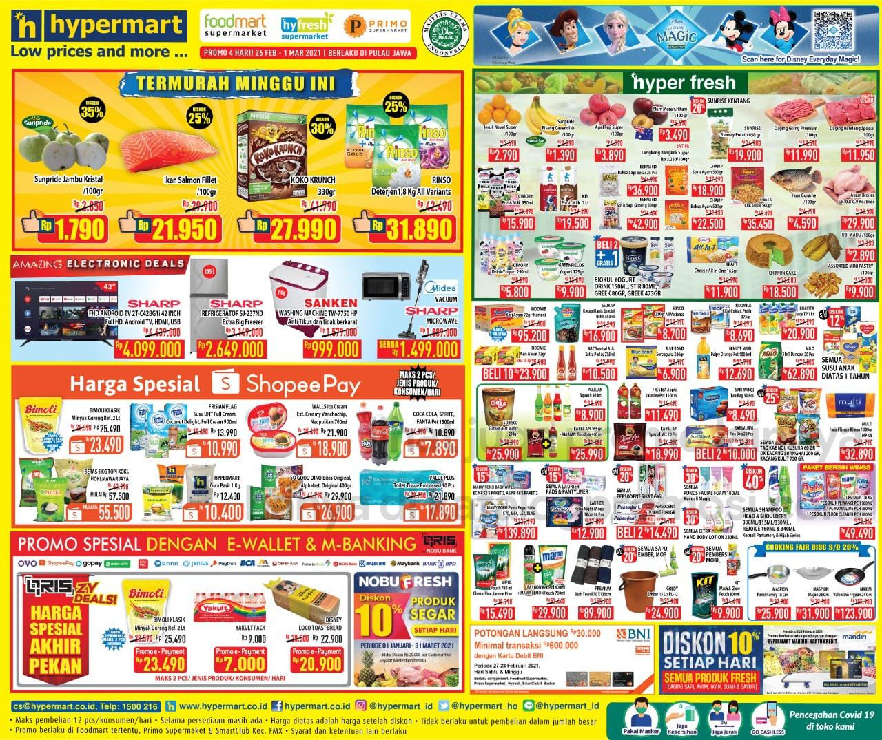 Promo Hypermart JSM Katalog Weekend periode 26 Februari - 01 Maret 2021