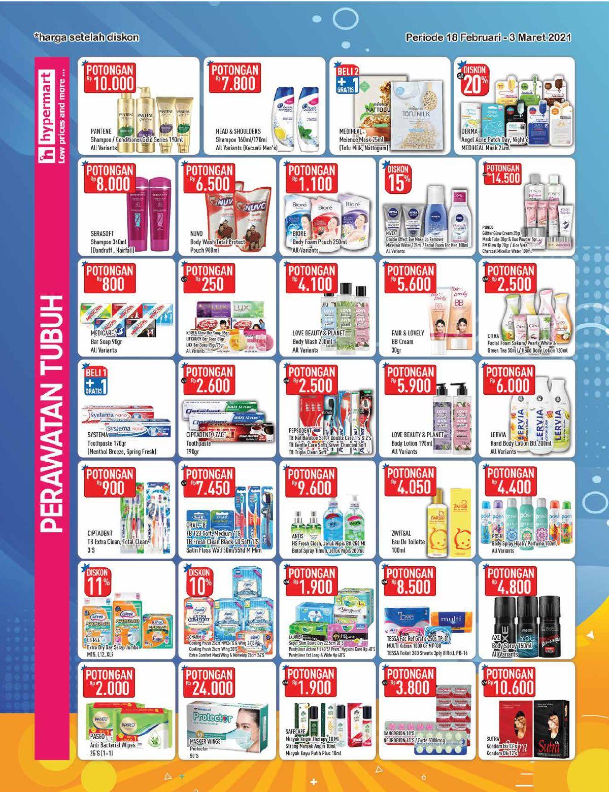 Promo Hypermart Katalog Belanja Mingguan periode 18 Februari - 03 Maret 2021