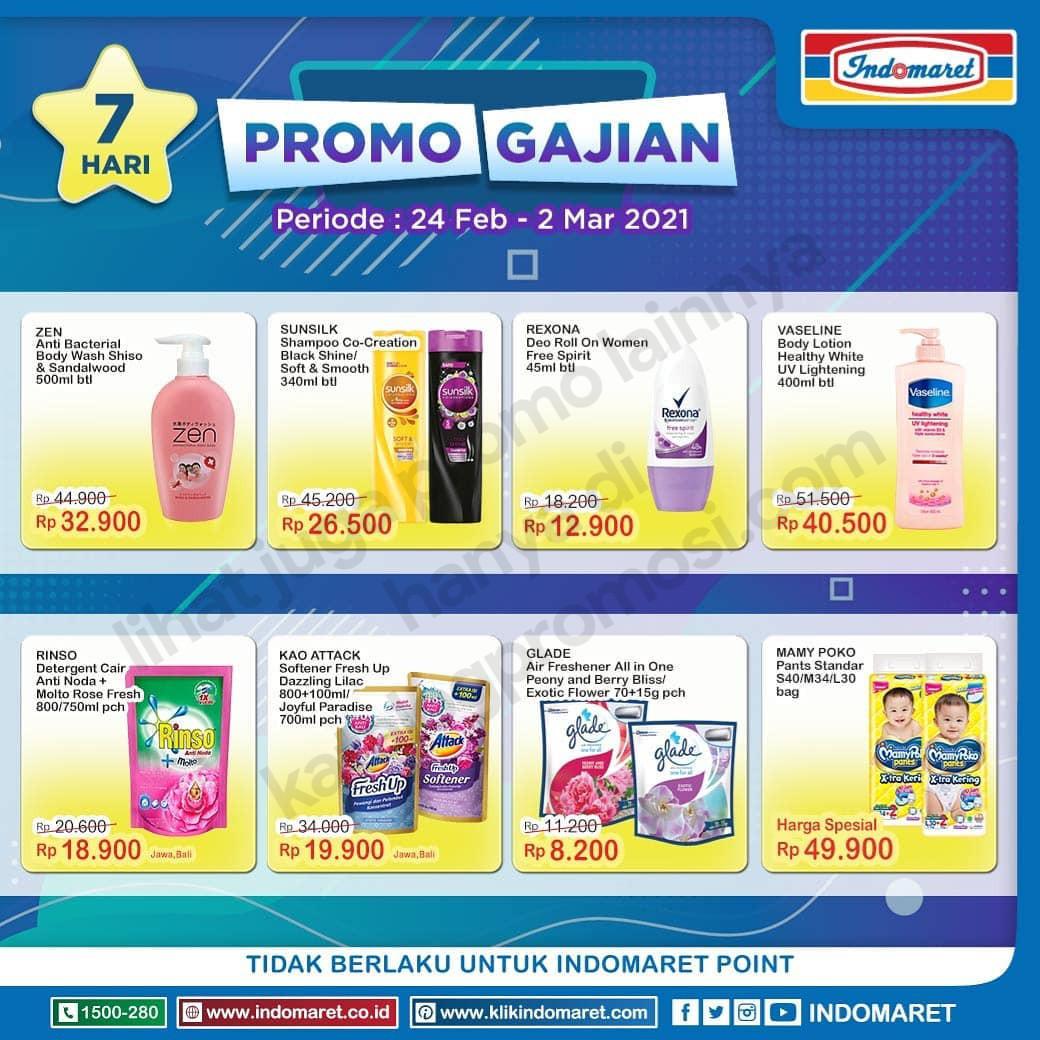 INDOMARET Promo GAJIAN periode 24 Februari - 02 Maret 2021
