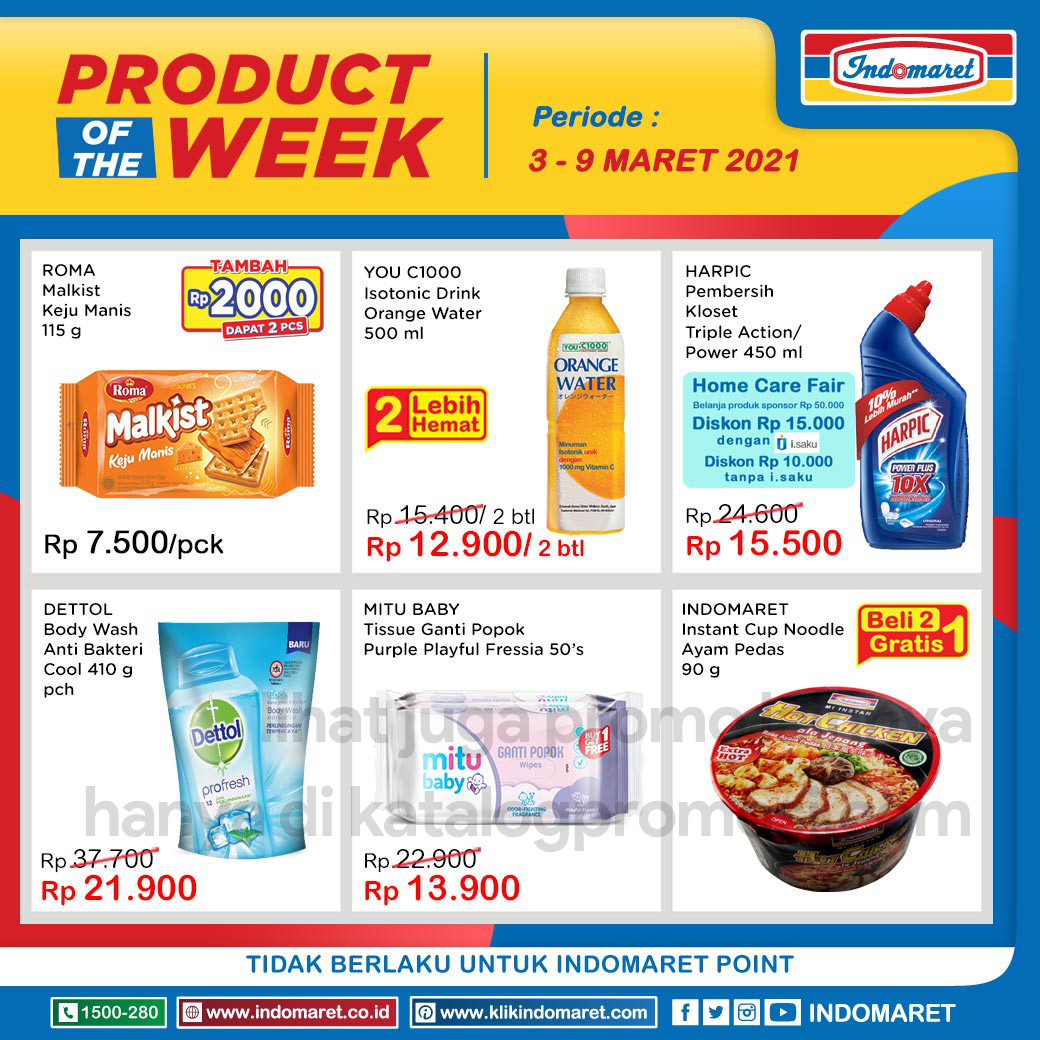 INDOMARET Promo PRODUCT of The Week periode 03-09 Maret 2021