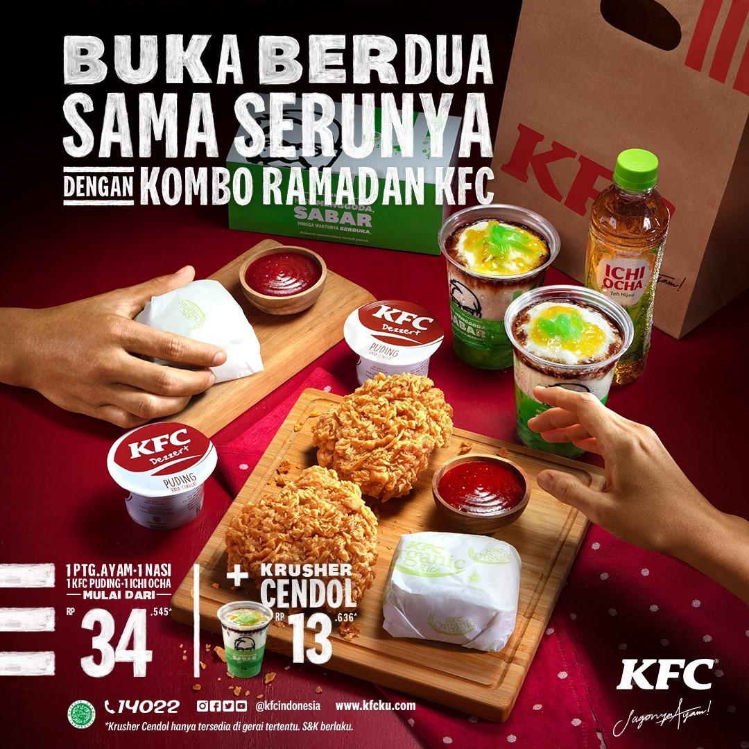 Promo Ramadhan KFC Paket KOMBO RAMADHAN Harga Mulai dari Rp.34.545