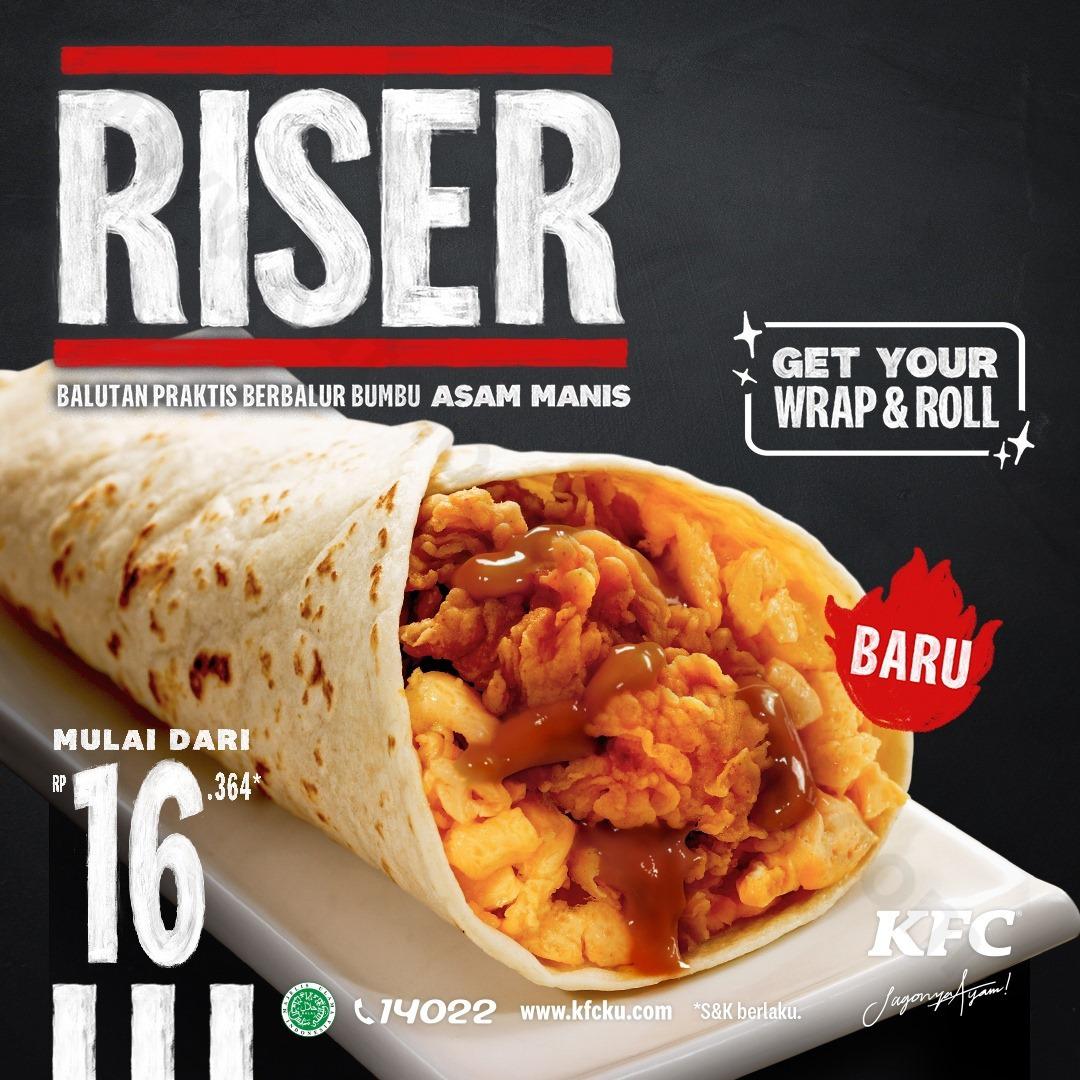 Promo KFC Terbaru - KFC RISER ! Harga Mulai Dari Rp 16.364