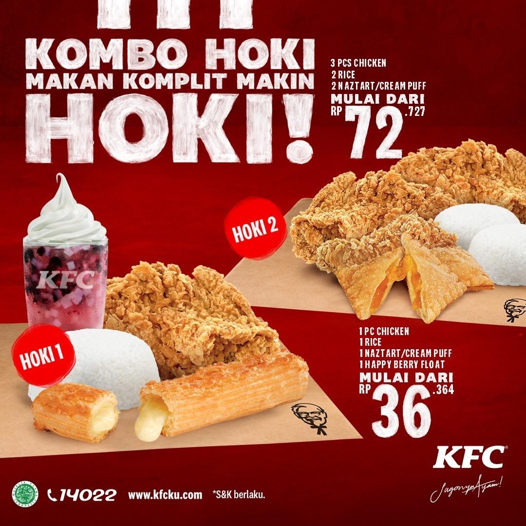 Promo KFC Terbaru - KOMBO HOKI ! Harga mulai Rp. 36.364