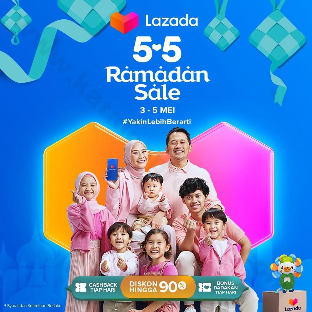 <div>Lazada 5.5 Ramadan Sale – Diskon Hingga 90%, Cashback Tiap Hari & Bonus Dadakan Tiap Hari</div>