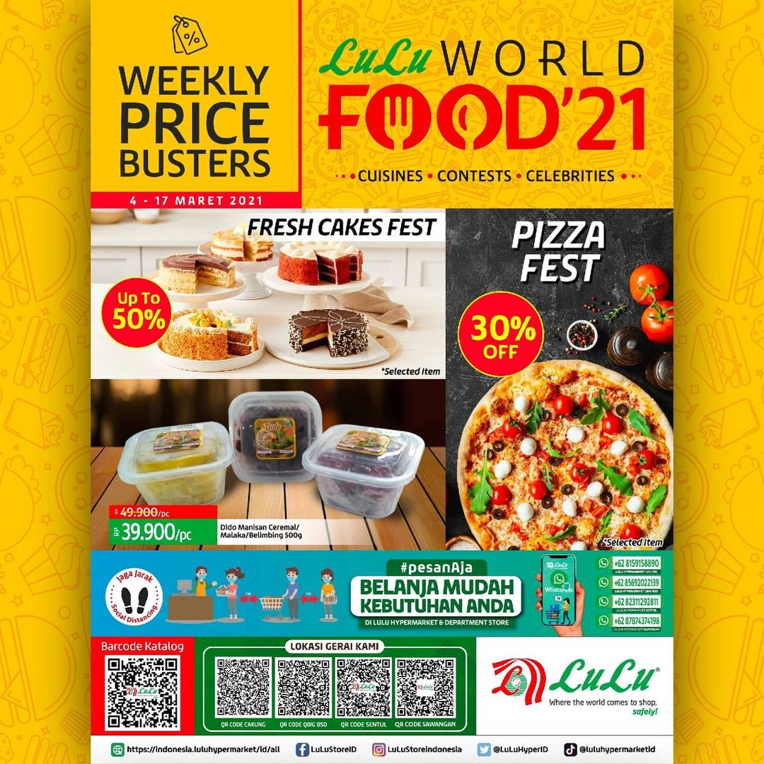 Katalog LuLu Hypermarket & Department Store Edisi WORLD FOOD 2021 periode 04-17 MARET 2021