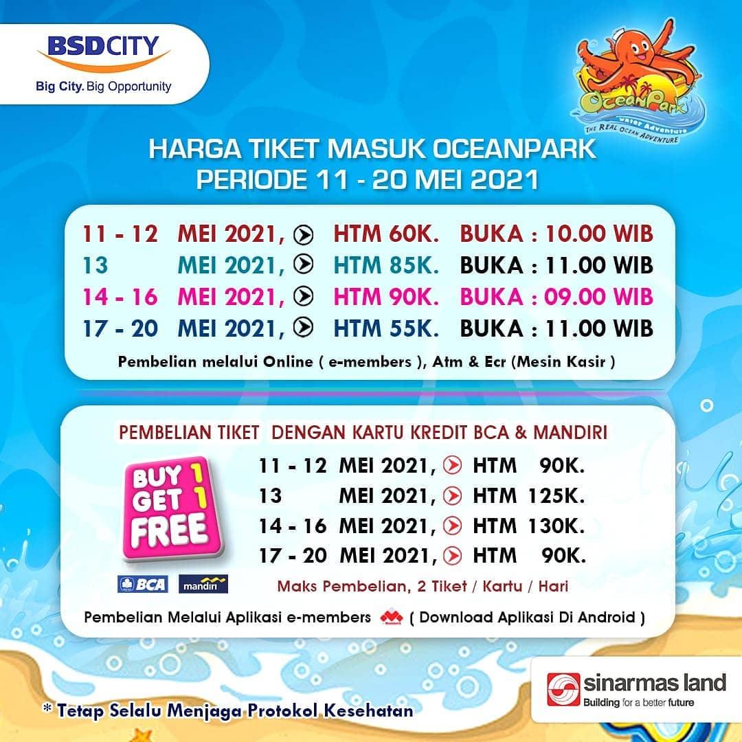 HARGA TIKET MASUK OceanPark BSD City - BELI 1 GRATIS 1 dengan KARTU KREDIT BCA dan MANDIRI