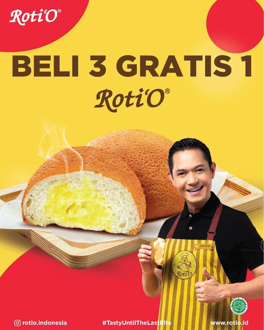 Promo Roti O Beli 3 Gratis 1 Untuk Roti Dan Harga Spesial Untuk Pastry