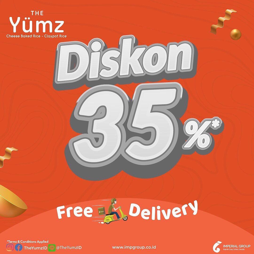 THE YUMZ Promo Diskon 35% khusus untuk pemesanan via WhatsApp Delivery