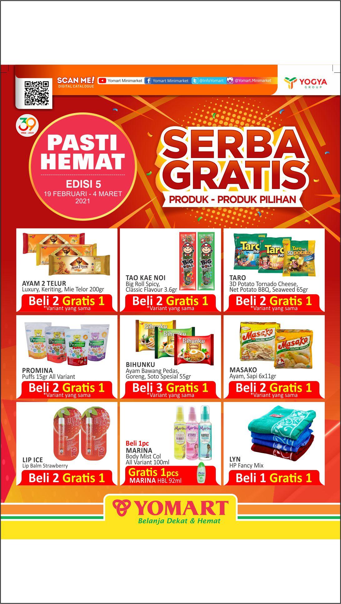 Katalog Yomart Minimarket Promo Mingguan periode 19 Februari - 04 Maret 2021