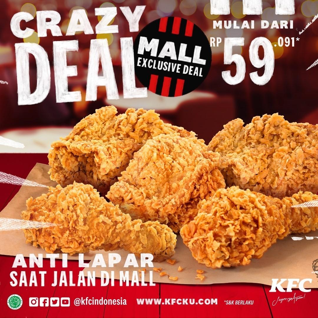 Promo KFC CRAZY DEAL- Harga Spesial Paket 5 Potong ayam / 9 Potong ayam mulai Rp. 59.091