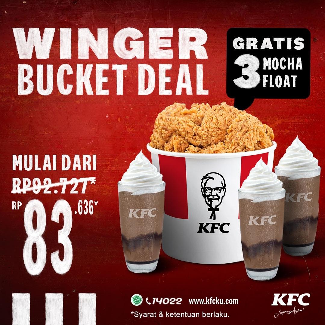 Promo KFC Minggu ini –  WINGER BUCKET DEAL mulai dari Rp 83.636