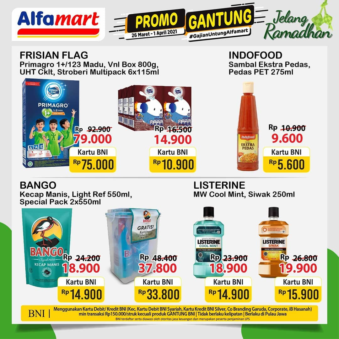 Promo GANTUNG ALFAMART / GAJIAN UNTUNG periode 26 Maret - 01 April 2021
