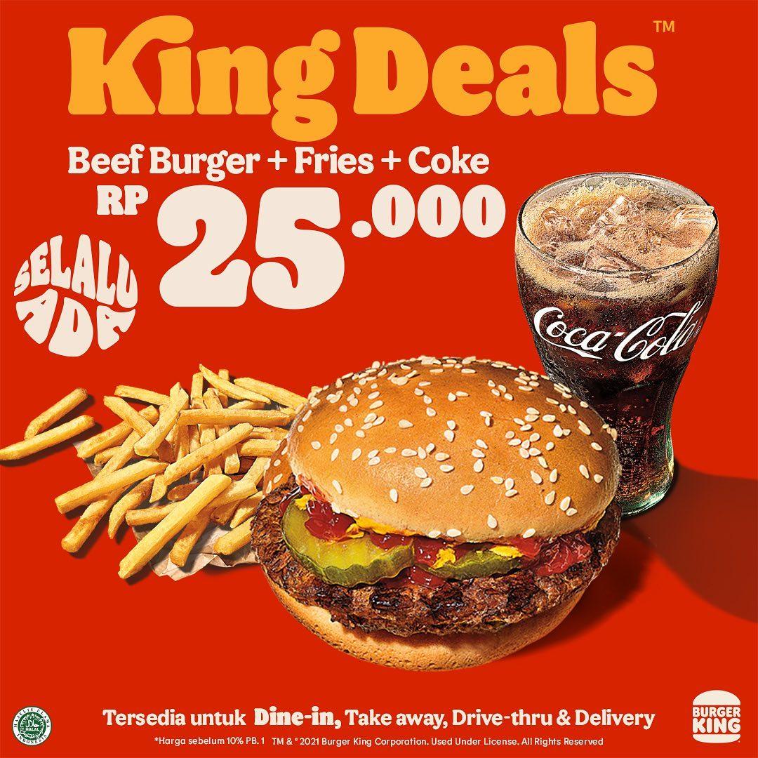 Promo BURGER KING KING DEALS! Harga Spesial Paket Pilihan mulai Rp. 19.091