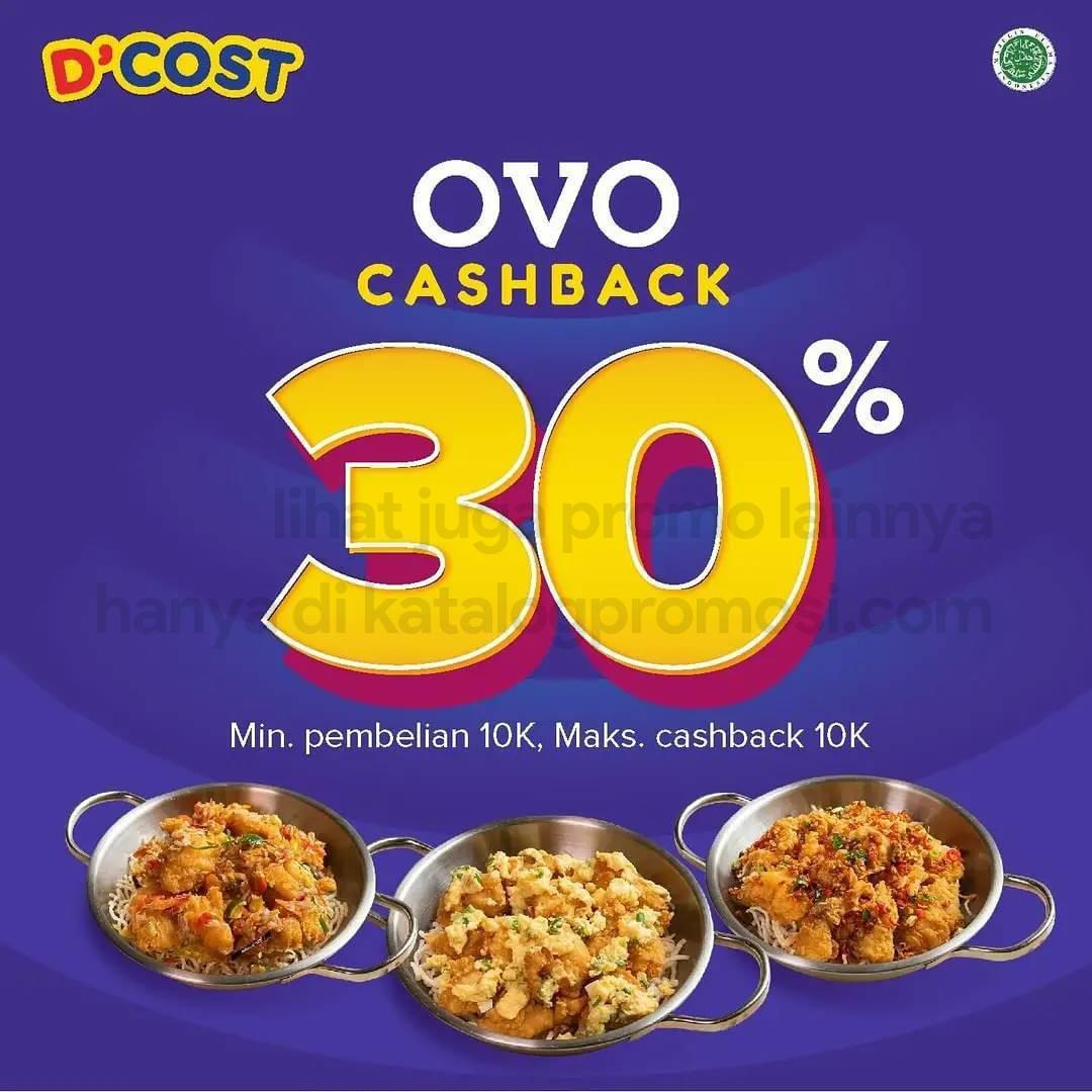 Promo DCOST CASHBACK hingga 30% untuk transaksi dengan OVO