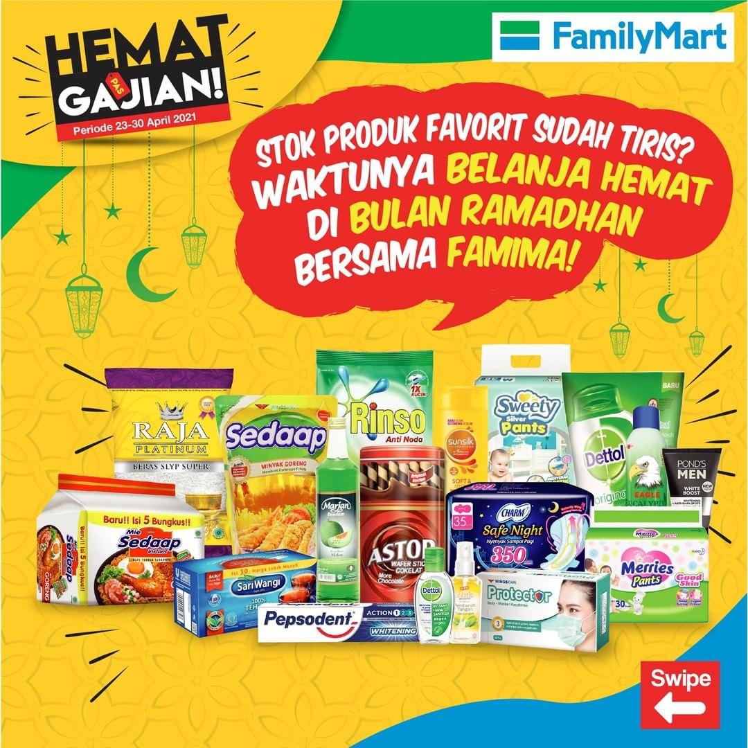 Promo FAMILYMART Katalog Weekend JSM HEMAT PAS GAJIAN periode 23-30 April 2021