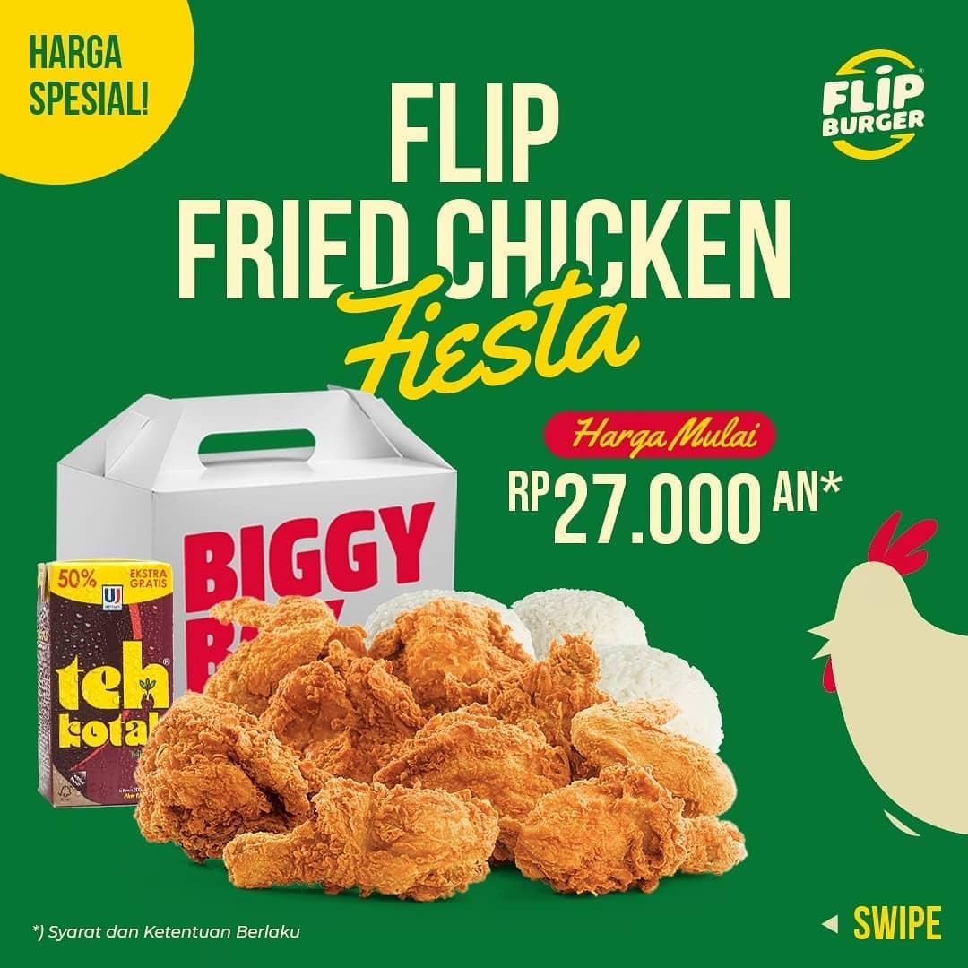 FLIP BURGER Promo PAKET FLIP FRIED CHICKEN FIESTA - Harga mulai Rp. 27.000